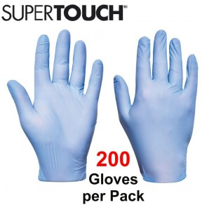 Supertouch Ultra Nitrile Gloves (Powder-Free) - Blue - 200 Pack