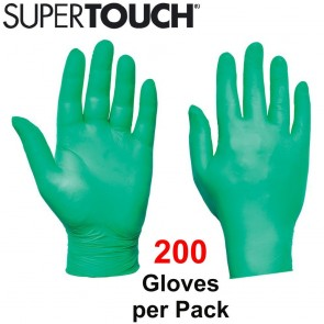 Supertouch Ultra Nitrile Gloves (Powder-Free) - Green - 200 Pack