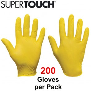 Supertouch Ultra Nitrile Gloves (Powder-Free) - Yellow - 200 Pack