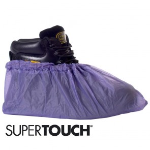 Supertouch PVC Overshoes (Blue) - Pack of 50 (25 Pairs) - Extra Large