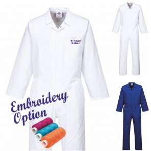 Embroidered Food Coveralls