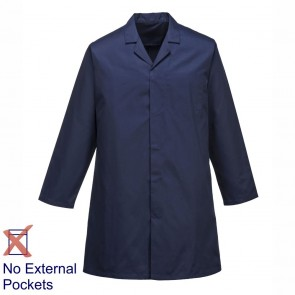 Portwest Food Trade Coat (No External Pockets) - Navy