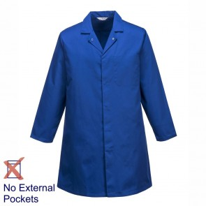 Portwest Food Trade Coat (No External Pockets) - Royal Blue