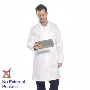 Portwest Food Trade Coat (No External Pockets) - White