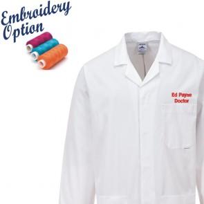 Embroidered Fortis Standard Lab Coat