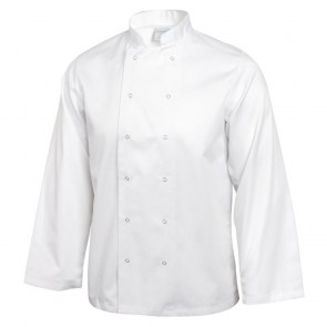 Vegas Chefs Jacket (Long Sleeve) - White
