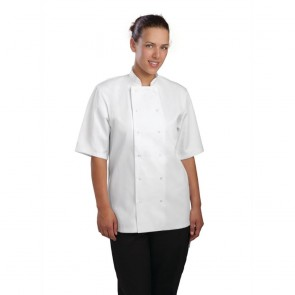 Vegas Chefs Jacket (Short Sleeve) - White (2XL) - New Shop Soiled - Requires washing