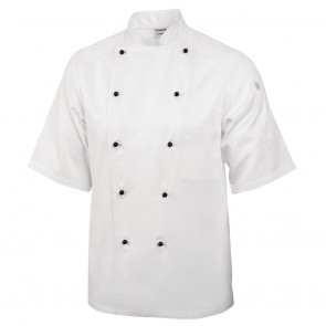 Marche Chef Jacket (Short Sleeve) - White