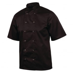 Vegas Chefs Jacket (Short Sleeve) - Black