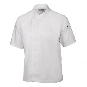 Cool Vent Executive Chefs Jacket (Short Sleeve) - White