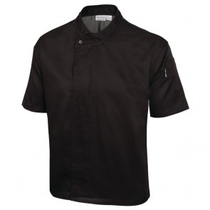 Cool Vent Executive Chefs Jacket (Short Sleeve) - Black