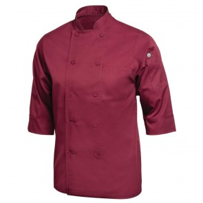 Colour by Chef Works 3/4 Sleeve Jacket - Merlot
