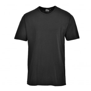 Thermal T-Shirt Short Sleeve - Black