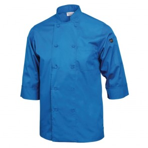 Colour by Chef Works 3/4 Sleeve Jacket - Blue