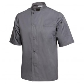 Chef Works Valais Chef Coat - Grey with Black Panels