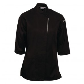 Cool Vent Verona Ladies Chefs Coat - Black