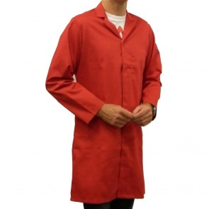 "Men's (Unisex) Food Trade / Warehouse Coat (No External Pockets) - Red (38"")"