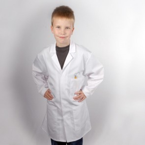 "Kids Lab Coat - 86cm (34"") - Small Black Mark on Press Stud"