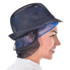 Navy Trilby with Snood
