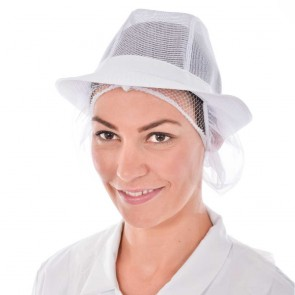 White Trilby with Snood