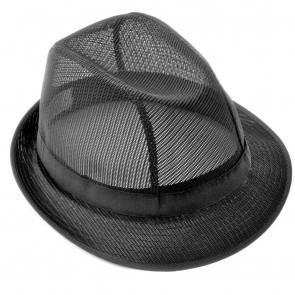 Coloured Trilby in Black