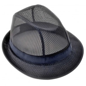 Coloured Trilby in Navy