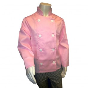 "Kids Chef Jacket (Pink) - 76cm (30"") - Brand new but with chipped button otherwise perfect."