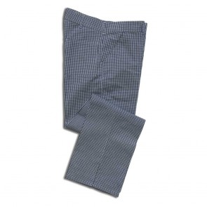 Chef's Trousers - Small Blue Checks