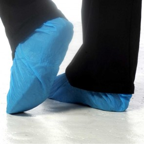 Disposable Overshoes (Blue) - Pack of 100 (50 Pairs)