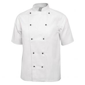 Chicago Chefs Jacket (Short Sleeve) - White