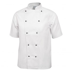 Chicago Chefs Jacket (Short Sleeve) - White (M) - HALF PRICE - Requires a wash - very slight soiling