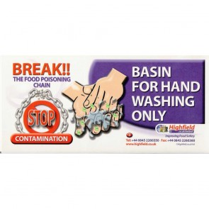 Basin For Handwashing Only