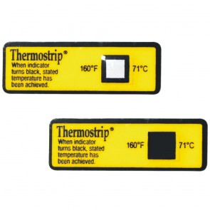 Thermostrip® Dishwasher Temperature Testing Strip Single Temperature Point (24 Pack)