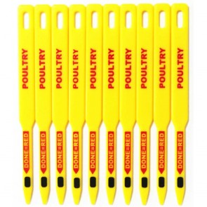 Pack of 10 CookCheck Poultry Reuseable Temperature Sticks