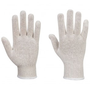 String Knit Liner Gloves (12 Pairs) - White