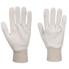 Jersey Liner Gloves (12 Pairs) - Natural