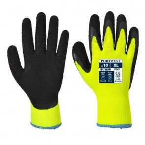 Thermal Soft Grip Glove - Yellow / Black