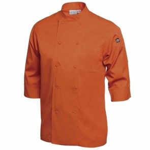 Colour by Chef Works 3/4 Sleeve Jacket - Orange