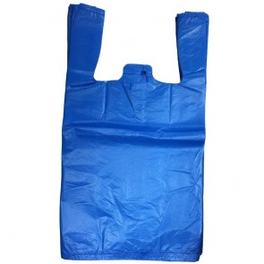 Blue Recycled Vest Carrier Refuse Bags (280 x 410 x 505mm) Pack of 100