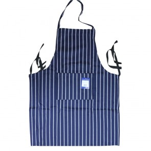 Navy White Stripe Butchers Apron - One Only