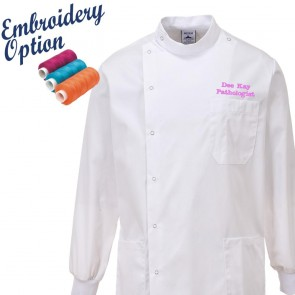 Embroidered Howie Lab Coat