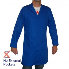 Men's (Unisex) Food Trade / Warehouse Coat (No External Pockets) - Royal Blue