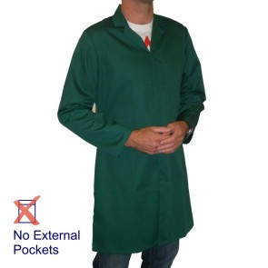 Men's (Unisex) Food Trade / Warehouse Coat (No External Pockets) - Bottle Green