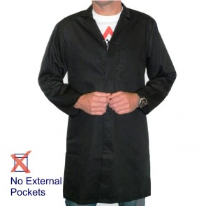 Men's (Unisex) Food Trade / Warehouse Coat (No External Pockets) - Black