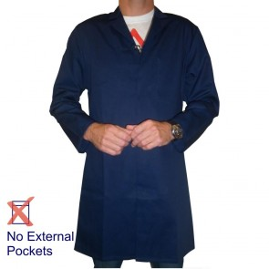 Men's (Unisex) Food Trade / Warehouse Coat (No External Pockets) - Navy