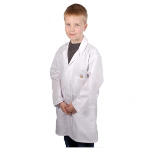 "Clearance Kids Lab Coat (Size 34""/13-14 years) - Some faint marks - may wash out"