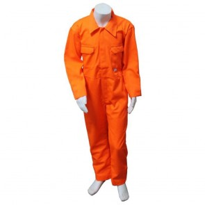 "Clearance Kids Orange Coveralls (Size 26""/4-5 years) - Brand New - Small ink stain (4mm) on pocket"