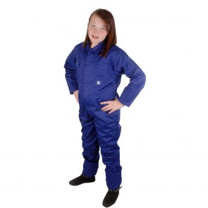 """Clearance Kids Royal Blue Coveralls (Size 32""""/10-11 years) - Brand New - Customer Return"""