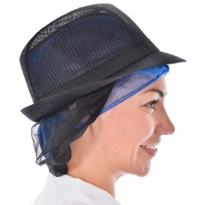 Black Trilby with Snood
