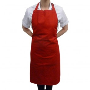 Red Full Length Bib Apron